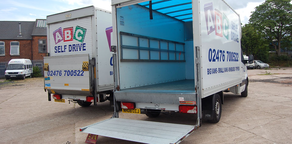 Luton Tail Lift Van Hire Coventry